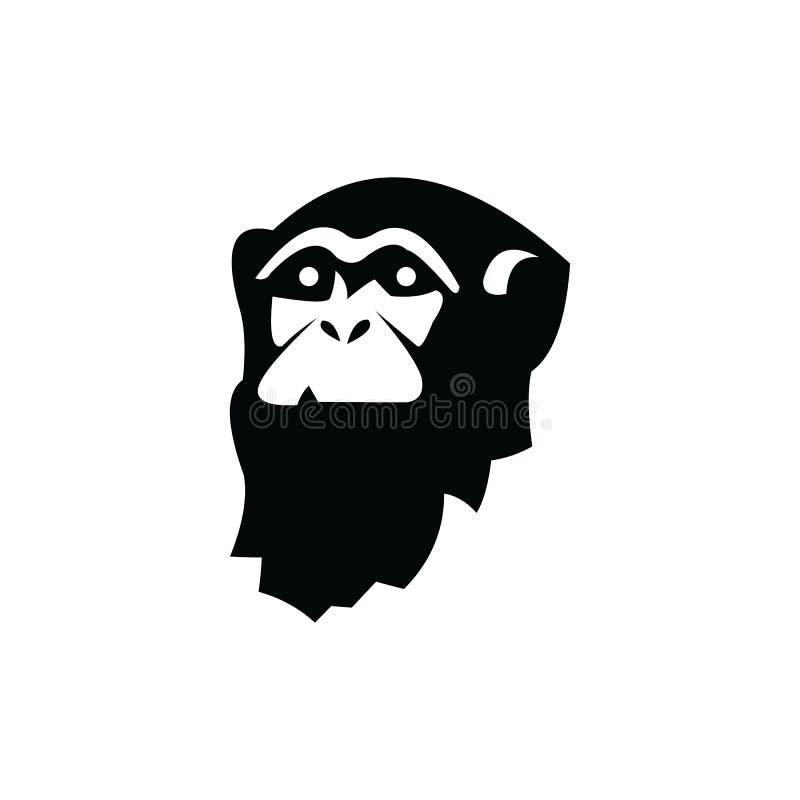 Gorilla Logo Design, icon, Vector, illustration. Ape, graphic, monkey, silhouette, symbol, angry, animal, art, background, black, cartoon, cat, chimp, cut vector illustration