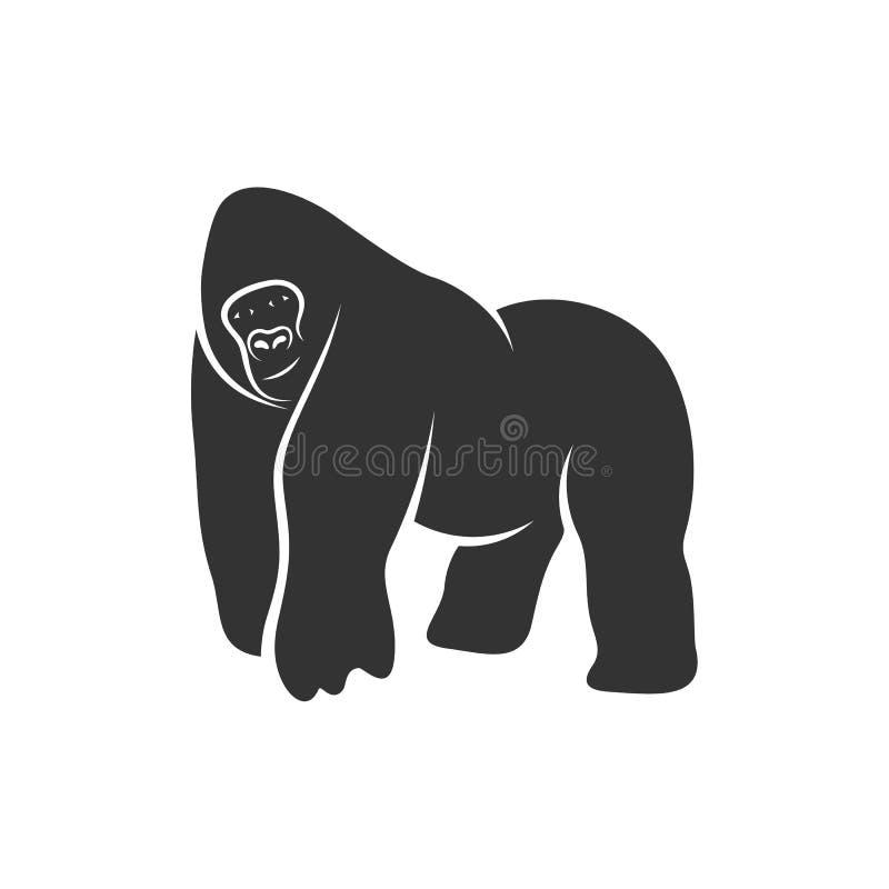 Gorilla Logo Design Vector. King kong logo Template vector illustration