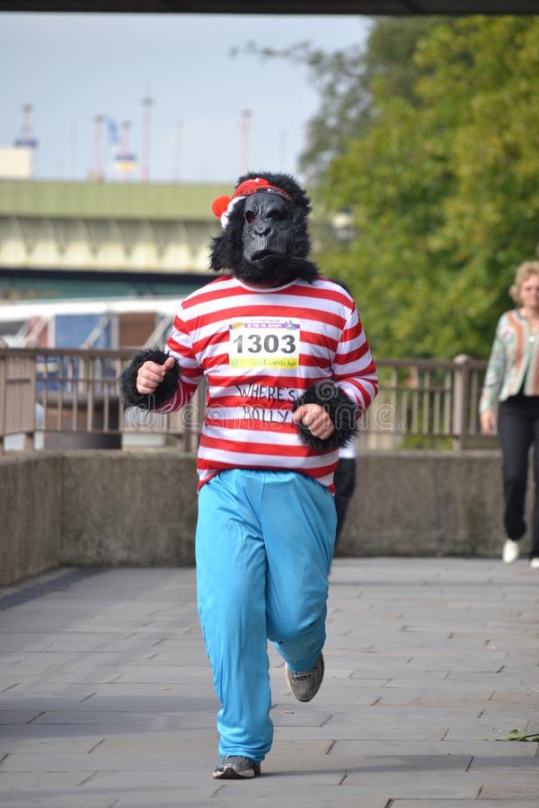 Download Gorilla in a marin outfit editorial stock image. Image of ball - 21313404