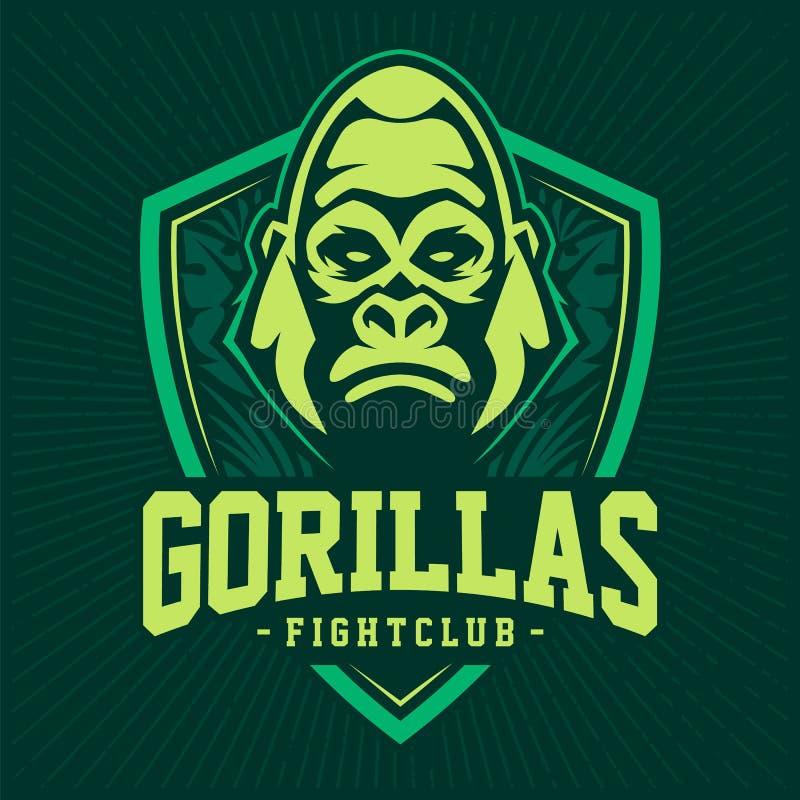 Gorilla Mascot Emblem Design royalty illustrazione gratis