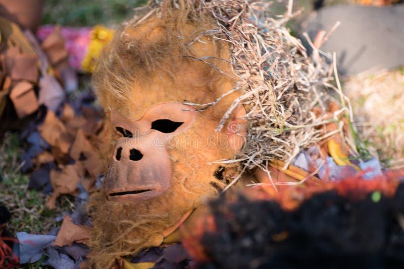 Gorilla mask. Aliwan Festival 2017, Pasay City, Philippines stock photos
