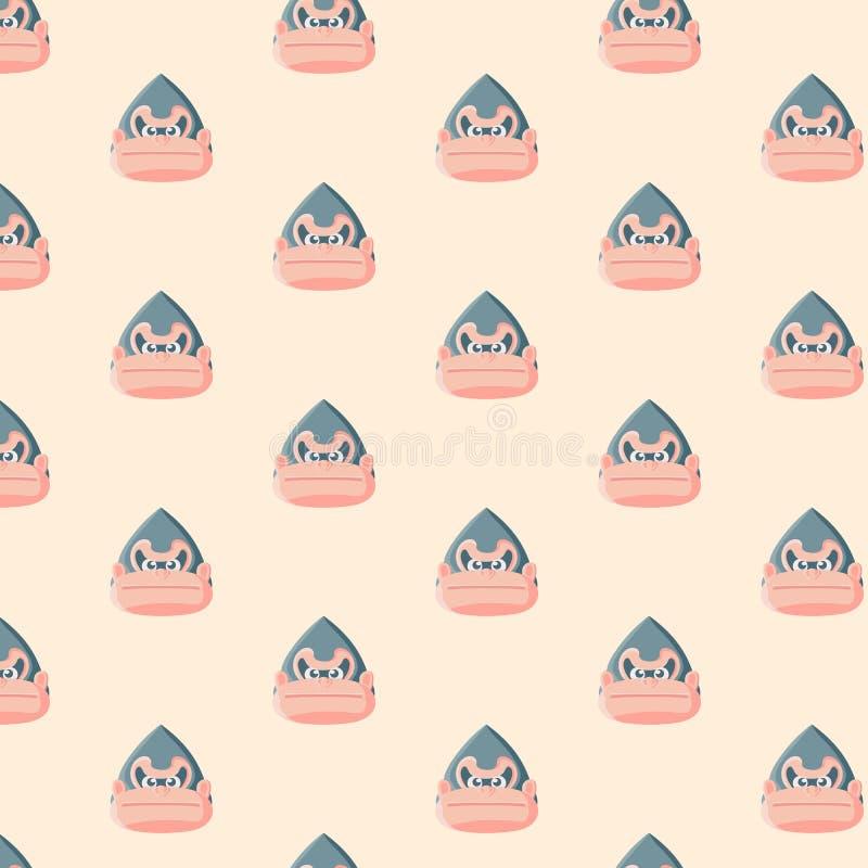 Gorilla seamless pattern. vector illustration