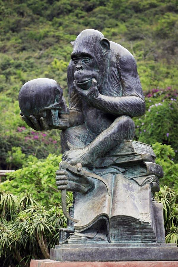 Gorilla Statue stock afbeelding