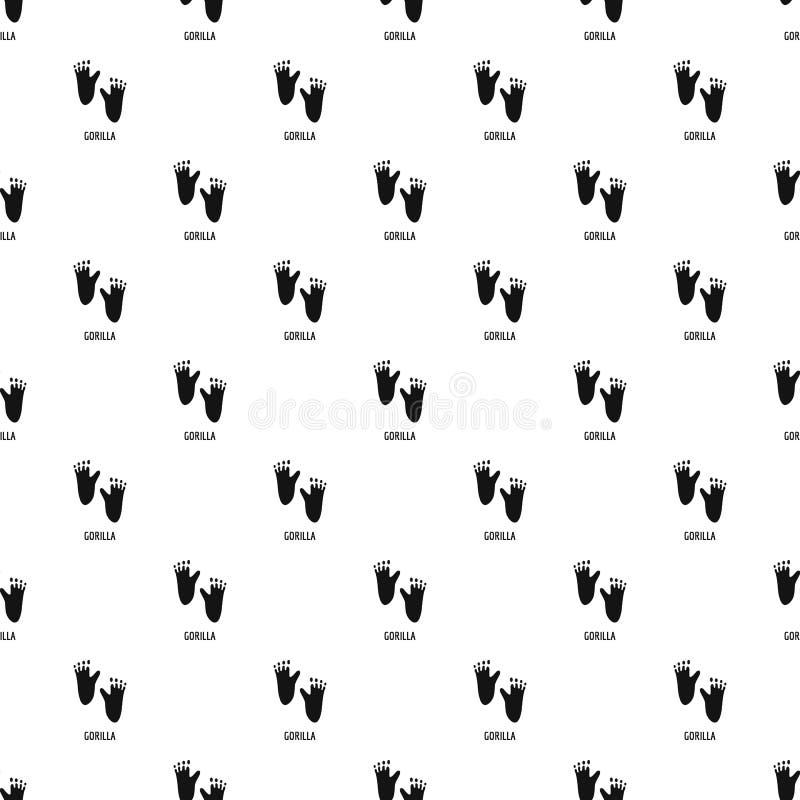 Gorilla step pattern seamless vector royalty free illustration