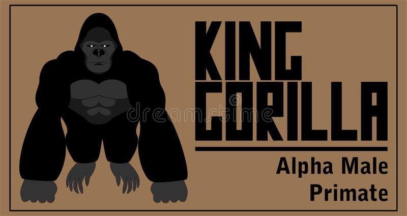 Gorilla Vector Illustration illustration de vecteur