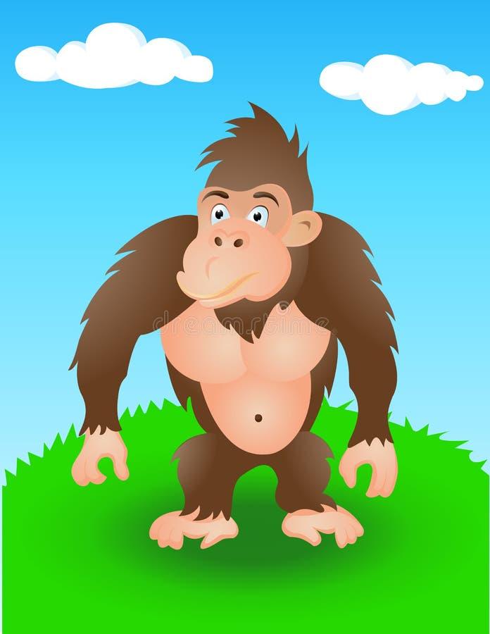 Download Gorilla in the wild stock vector. Illustration of congo - 24537778
