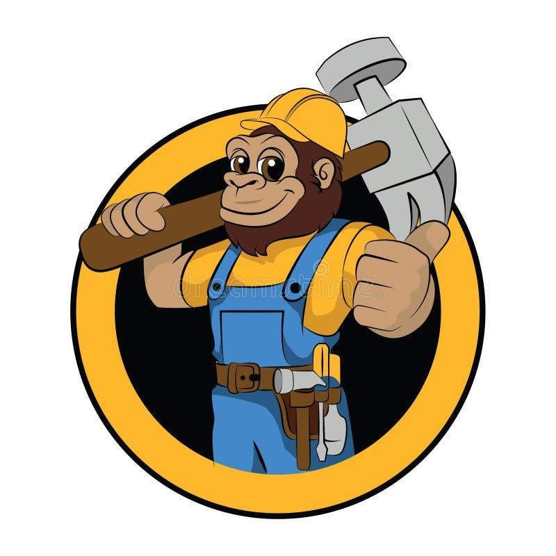 Gorilla worker stock illustration