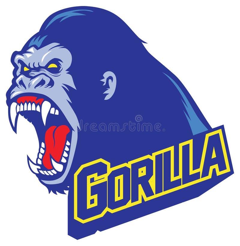 Gorillamascotte stock illustratie