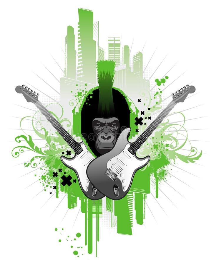 gorillapunk stock illustrationer