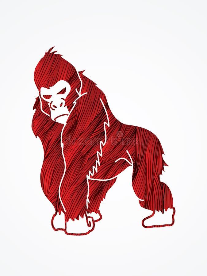 Gorille illustration stock
