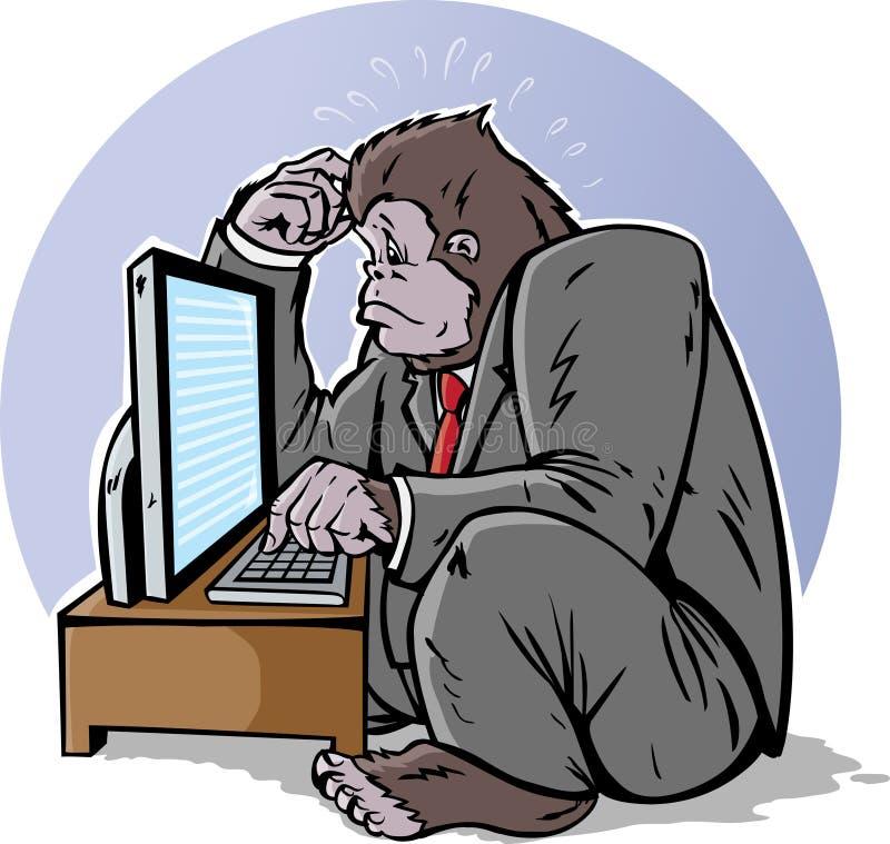 Gorille confus illustration libre de droits