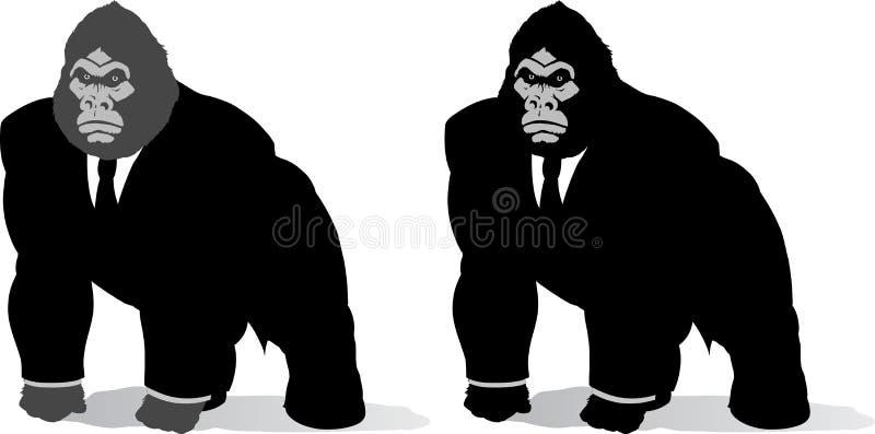 Gorille dans le procès illustration de vecteur