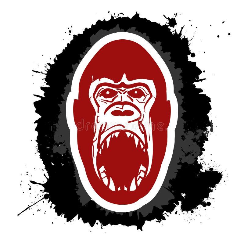 Gorille fâché illustration libre de droits