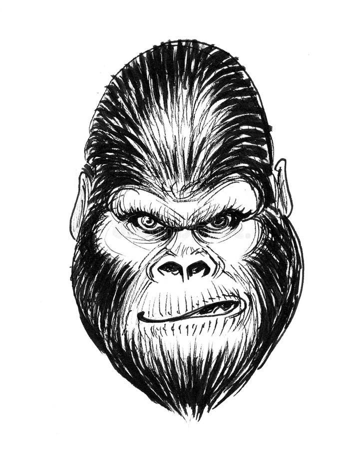 Gorille fou illustration libre de droits