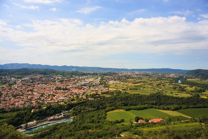 Gorizia e Nova Gorica imagens de stock royalty free