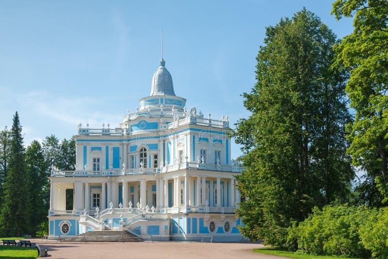 Gorka de Katalnaya del pabellón del trineo largo, Oranienbaum, Rusia imagen de archivo