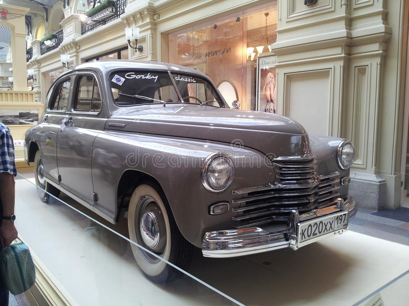 Gorkij classica, retro automobile fotografia stock