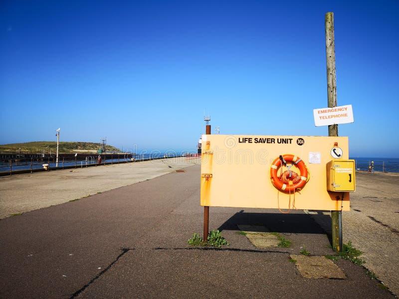 Gorleston strandEmergancy enhet royaltyfri fotografi