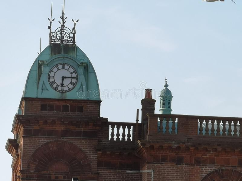 Gorleston Theatre clock tower royalty free stock photo