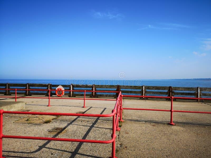 Gorleston ut till havet arkivfoto