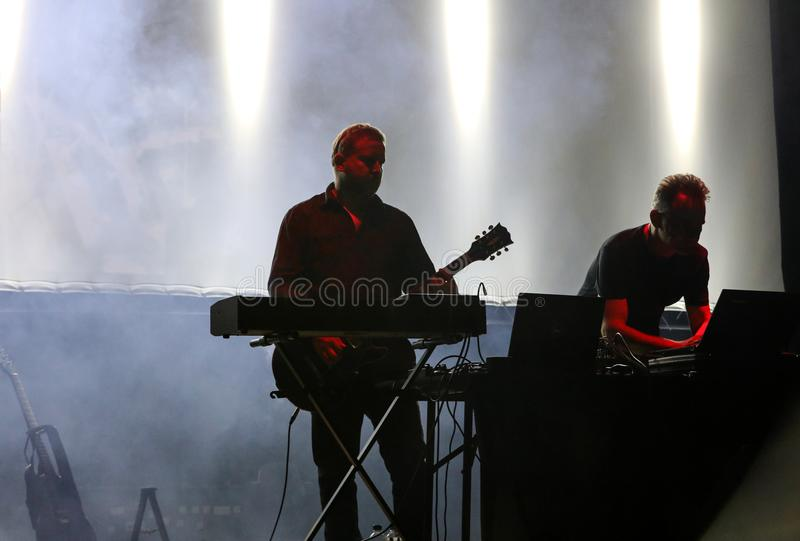 Accomplice Affair live at International Multimedia Presentation - Ambient Festival . Gorlice. Poland. Gorlice, Poland - July 14 2017: Accomplice Affair live at stock photos