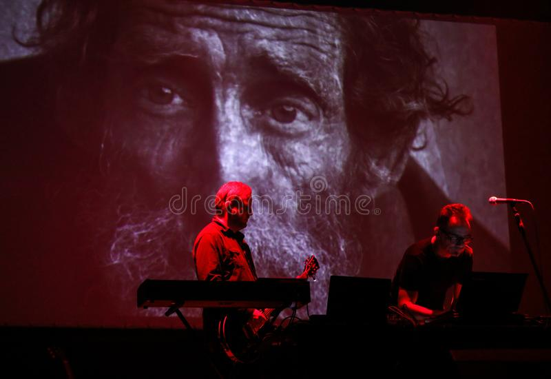 Accomplice Affair live at International Multimedia Presentation - Ambient Festival . Gorlice. Poland. Gorlice, Poland - July 14 2017: Accomplice Affair live at stock photo