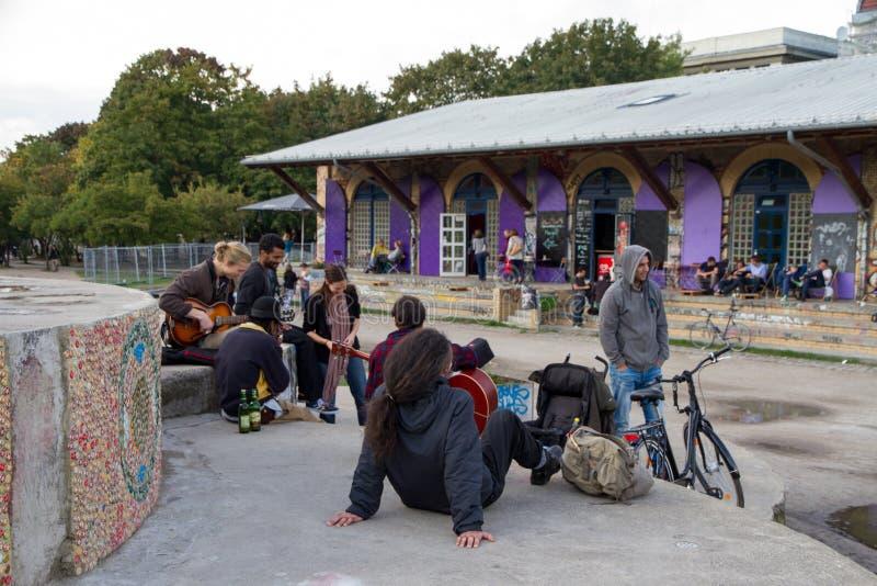 Gorlitzerpark, Berlijn, Duitsland stock afbeeldingen