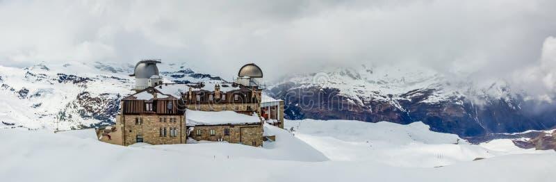 gornergrat瑞士zermatt 库存图片