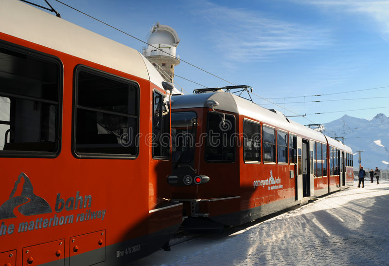 gornergrat τραίνο στοκ φωτογραφίες