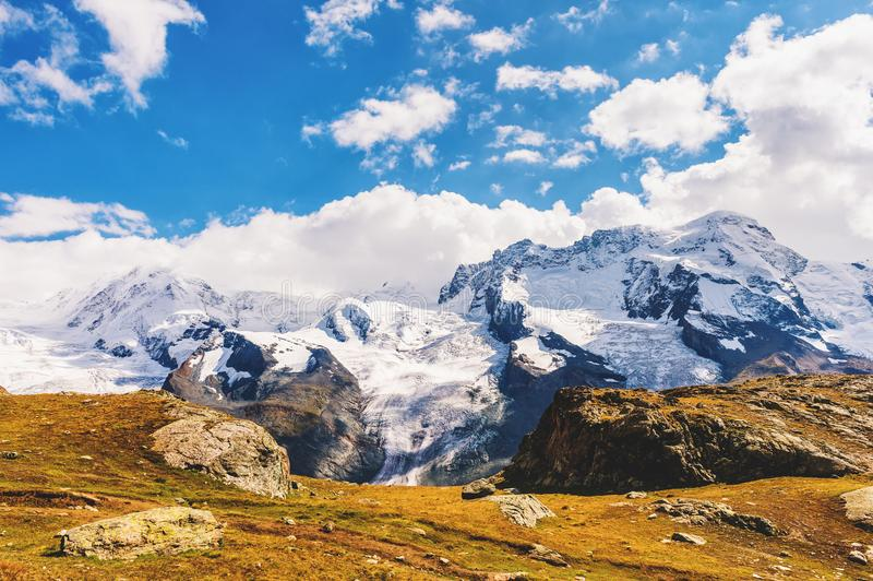 Gornergrat glacier in summer stock photography