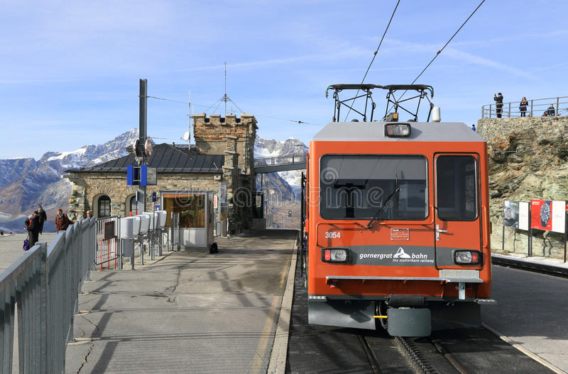 Gornergrat railway station royalty free stock photos