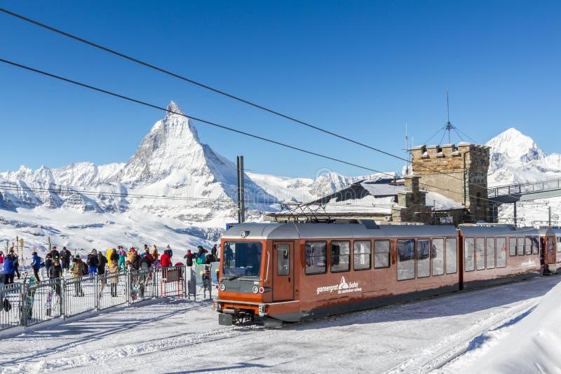 Gornergratbahn Zermatt royaltyfri fotografi
