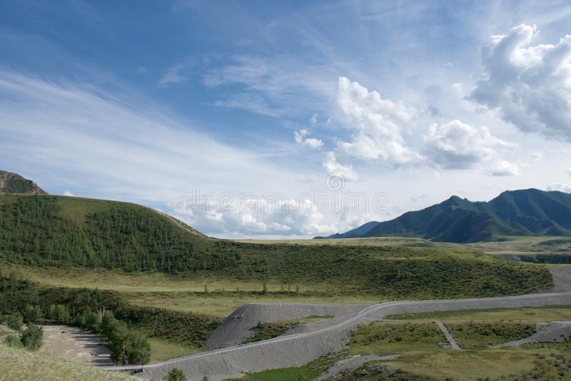 Gorny Altai, Sibirien, rysk federation royaltyfria bilder