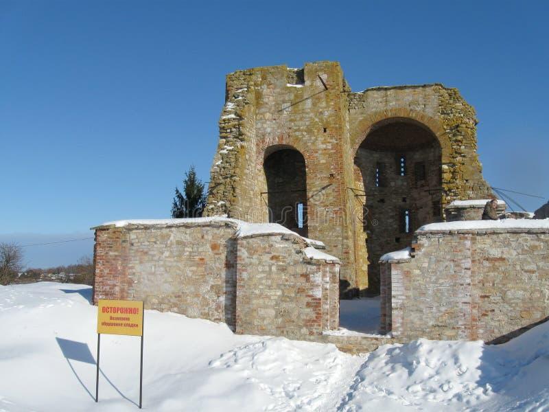 Gorodosche de Rurikovo no inverno foto de stock