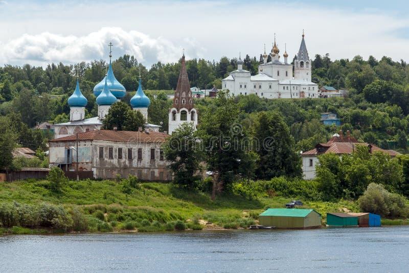 Gorokhovets, Vladimir region. View of Puzhalova the mountain from the Klyazma River stock photos