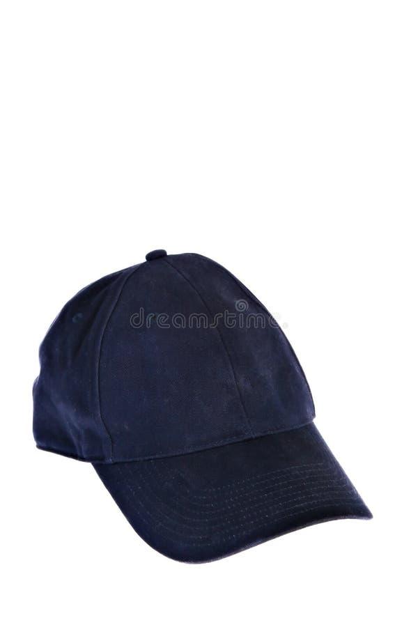 Gorra de béisbol azul aislada foto de archivo libre de regalías