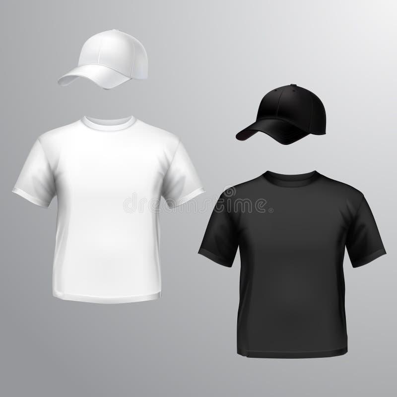 Gorra De Béisbol Para Hombre De La Camiseta Ilustración del Vector ...