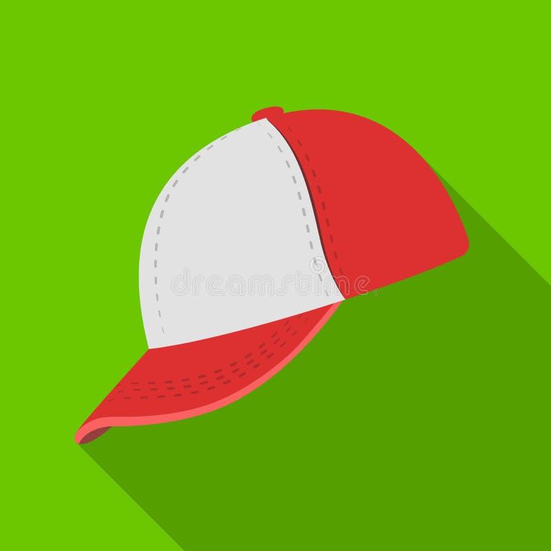 Gorra de béisbol Solo icono del béisbol en web plano del ejemplo de la acción del símbolo del vector del estilo libre illustration