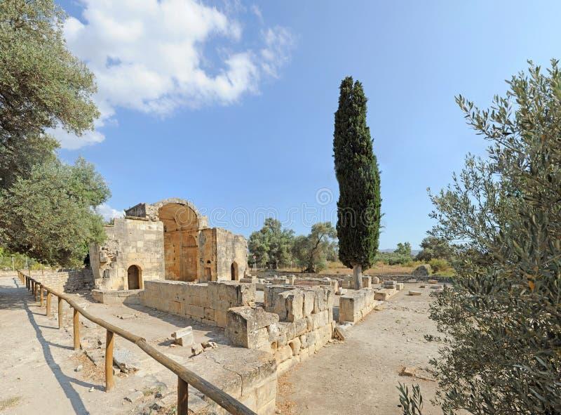 Gortyna Crete Grecja fotografia stock