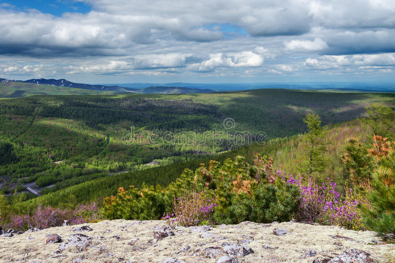 Gory Ridge Miao Chan. Gory Ridge Miao Chan in the Russian Far East royalty free stock photo