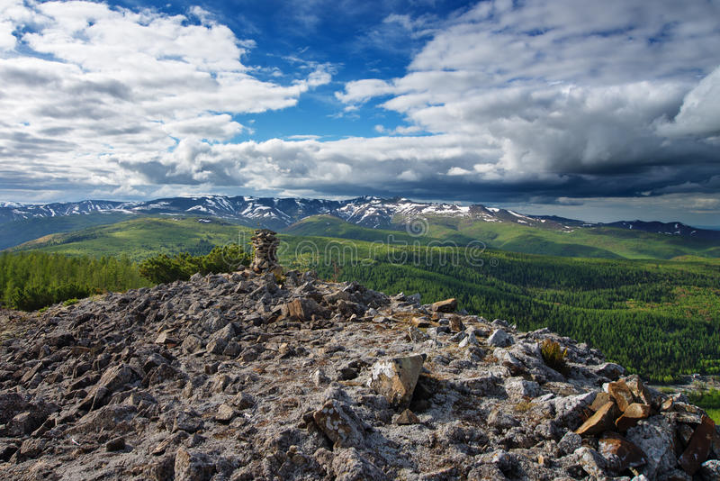 Gory Ridge Miao Chan. Gory Ridge Miao Chan in the Russian Far East royalty free stock image