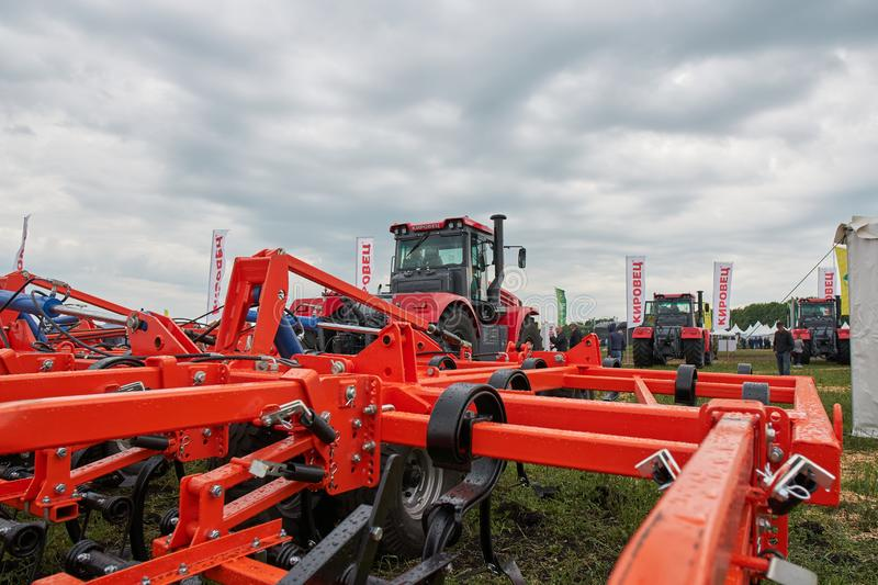 Farm implement. Goryainovka, Mordovia, Russia - June 28, 2019: A farm implement at the public event Russian Plowing Championship stock photography