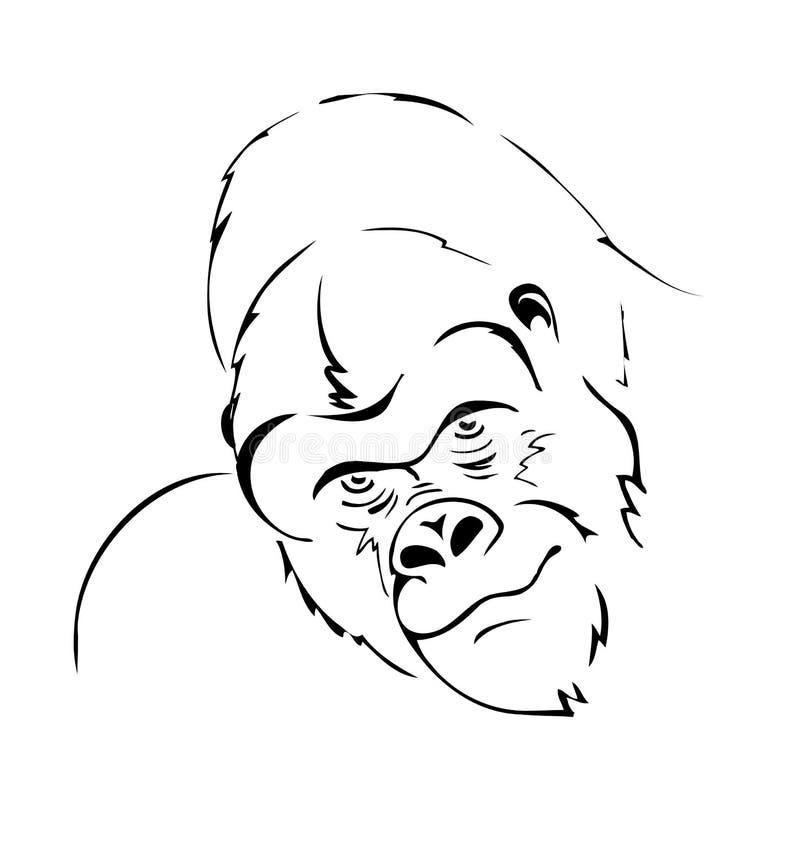 Goryl głowa royalty ilustracja