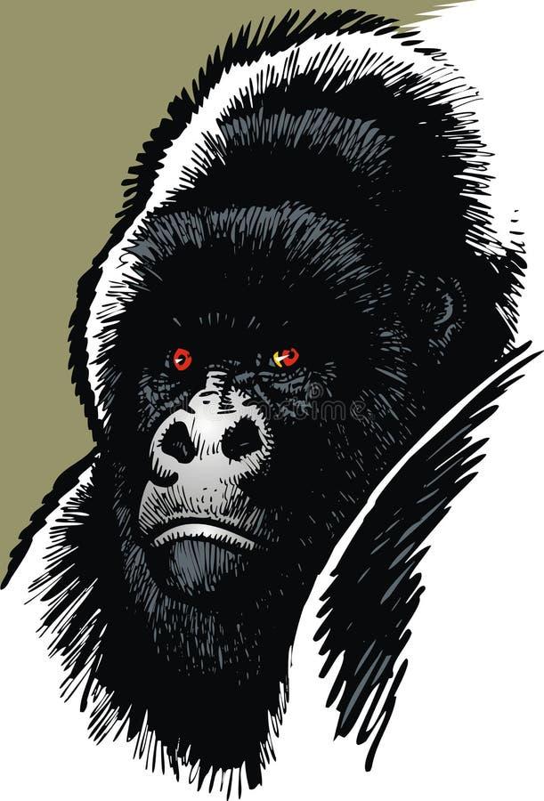 Goryl matki głowa ilustracji