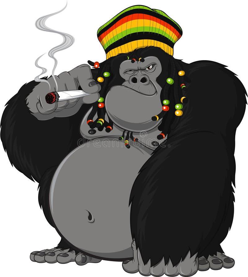 Goryl Rastafarian royalty ilustracja