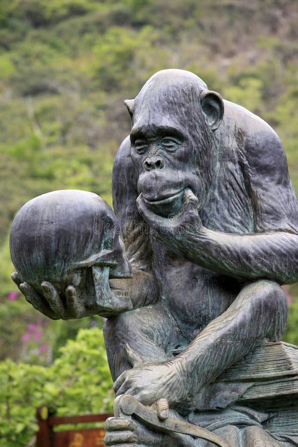 Goryl statua zdjęcia royalty free