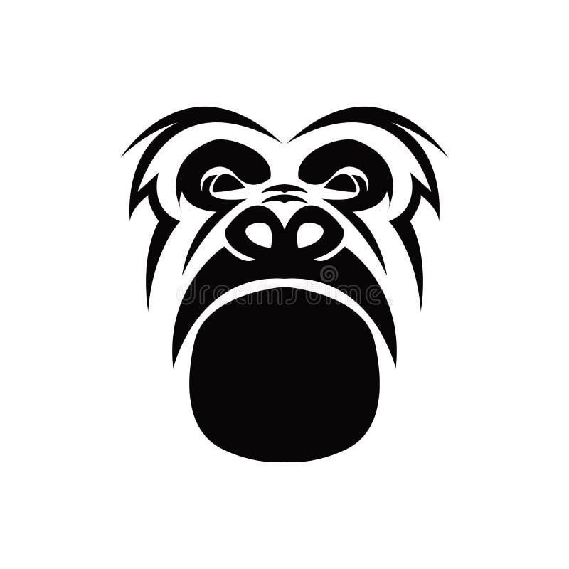 Goryla kierowniczy wektorowy logo royalty ilustracja