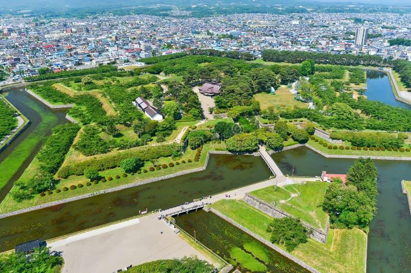 Goryokaku-Park in Hakodate, Hokkaido, Japan lizenzfreies stockbild