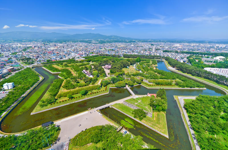 Goryokaku-Park in Hakodate, Hokkaido, Japan lizenzfreie stockfotos