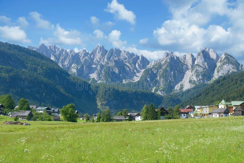 Gosau,达奇斯特恩山脉,阿尔卑斯,上奥地利 免版税库存图片